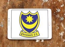 Портсмут f C Логотип клуба футбола Стоковая Фотография