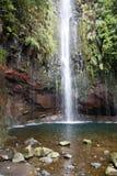 Португалия, Мадейра, водопад 25 Fontes около Rabacal стоковая фотография