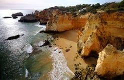 Португалия - пляжи и скалы в Алгарве, Лагосе стоковое изображение