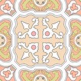 Португальская картина плиток сбор винограда бумаги орнамента предпосылки геометрический старый Te вектора безшовное Стоковая Фотография RF