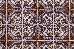 Португальская текстура azulejo Стоковые Изображения RF