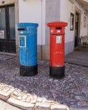 Португальские коробки почты, Tavira, Португалия Стоковые Изображения