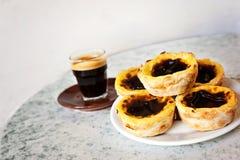 Португальские пироги Стоковое фото RF