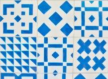 Португальские плитки azulejo Картина акварели безшовная стоковая фотография