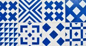 Португальские плитки azulejo Картина акварели безшовная Стоковое фото RF