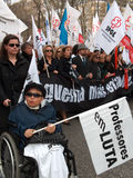 португальские учителя протеста Стоковое Изображение RF