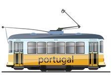 Португальский трамвай иллюстрация штока