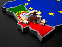 Португалия в евро Европе иллюстрация вектора