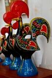 Португалия, керамический петух Стоковое Фото
