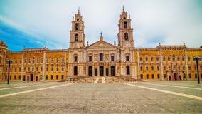 Португалия: королевские монастырь и дворец дворца Mafra, барочных и неоклассических, монастыря Стоковое Изображение RF