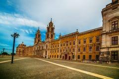 Португалия: королевские монастырь и дворец дворца Mafra, барочных и неоклассических, монастыря Стоковое Фото
