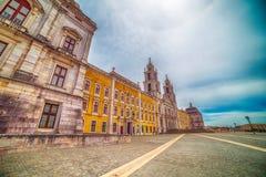 Португалия: королевские монастырь и дворец дворца Mafra, барочных и неоклассических, монастыря Стоковые Фото