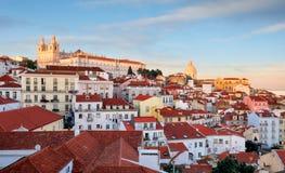 Португалия, Лиссабон - старый город Alfama стоковое изображение