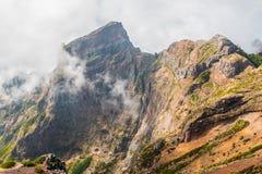 Португалия, Мадейра, взгляд гор около Pico de Arieiro Стоковые Изображения RF