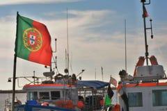 Португалия, страна ` s рыболовов Стоковое Фото