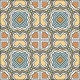 Португалка кроет безшовную картину черепицей сбор винограда бумаги орнамента предпосылки геометрический старый Стоковое Изображение