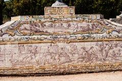 Португальская картина керамической плитки от C18th. Стоковая Фотография