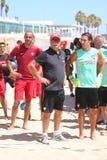 Португальская команда перед стойкой MUNDIALITO - ПОРТУГАЛЬСКАЯ команда Carcavelos 2017 Португалия Стоковая Фотография