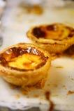Португальские национальные печенья: Пирог заварного крема яичка (пастельный de nata) Стоковое Изображение RF