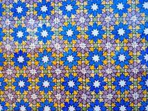 Португальские плитки на дворце Pena, Sintra, Португалии Стоковое Фото