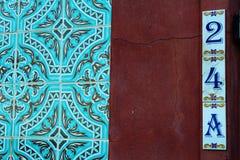 Португальские плитки номера дома Стоковые Фото