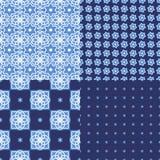 Португальские плитки azulejo делает по образцу безшовное Стоковое Изображение