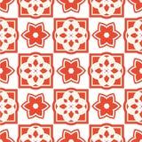 Португальские плитки azulejo делает по образцу безшовное Стоковая Фотография