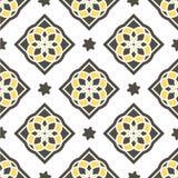 Португальские плитки azulejo делает по образцу безшовное Стоковые Изображения