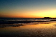 Португальский заход солнца стоковое фото rf