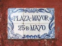 Португальский знак улицы Стоковое Фото