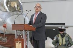 Португальский министр обороны прыжки Хосе Альберто Azeredo Стоковое Изображение RF