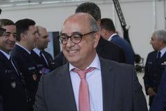 Португальский министр обороны прыжки Хосе Альберто Azeredo Стоковое Фото