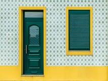 Португальский дом плитки - azulejo - 2 стоковая фотография rf