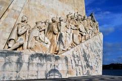 Португальский памятник открытий, Лиссабон, Португалия Стоковая Фотография RF