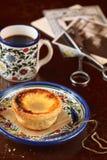 Португальский пирог заварного крема Стоковая Фотография RF