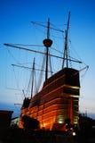 Португальский старый деревянный корабль Стоковые Фото