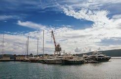 Порту Черногория, город Tivat, Черногория Стоковое Изображение