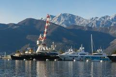 Порту Черногория Город Tivat, Черногория Стоковая Фотография RF