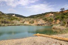 Порту Azzurro, небольшое озеро Terranera, Эльбы, Тосканы, Италии Стоковые Изображения