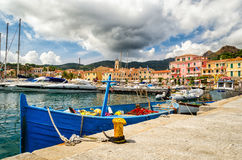 Порту Azzurro, d'Elba Isola Стоковые Фото