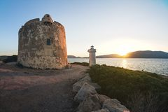 Порту Conte около Alghero, Сардинии, Италии Стоковое фото RF