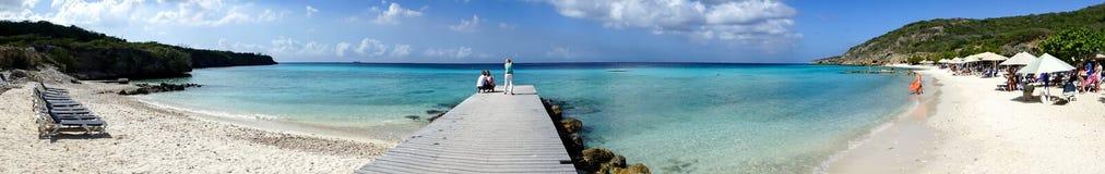 Порту Mari приставает - панораму к берегу пристани Стоковое фото RF
