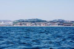 Порту Recanati от моря Стоковая Фотография RF