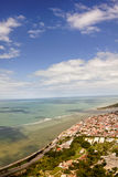 Порту Seguro от неба - Бахя, Бразилия стоковая фотография