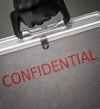 портфель конфиденциальный Стоковые Изображения RF