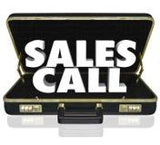 Портфель звонка продаж открытый продавая предложение представления Стоковое Изображение