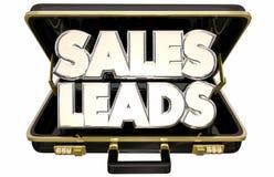 Портфель клиентов перспектив руководств продаж новый продавая Стоковое Изображение RF