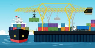 Порты доставки бесплатная иллюстрация
