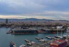 Порт Барселоны - Испании - Европы стоковая фотография rf