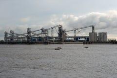 Порт большего Батон-Руж, рекой Миссисипи стоковая фотография